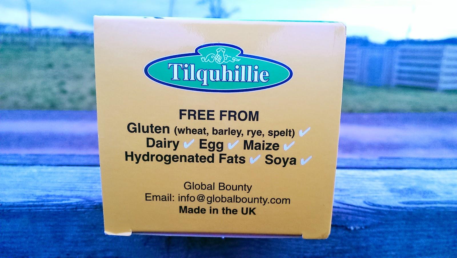 Tilquhillie Tillyjack Syrup Flapjack Gluten Free