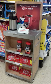KitKat and Nescafe promotion in Tesco Stockport