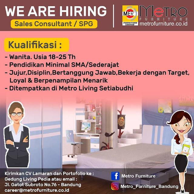 Lowongan Kerja Sales Consultant / SPG di Bandung