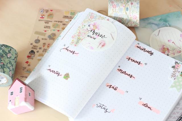 Bullet journal: semanas llenas de flores