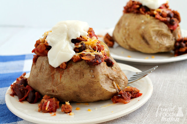 Turkey Chili-Stuffed Baked Potatoes