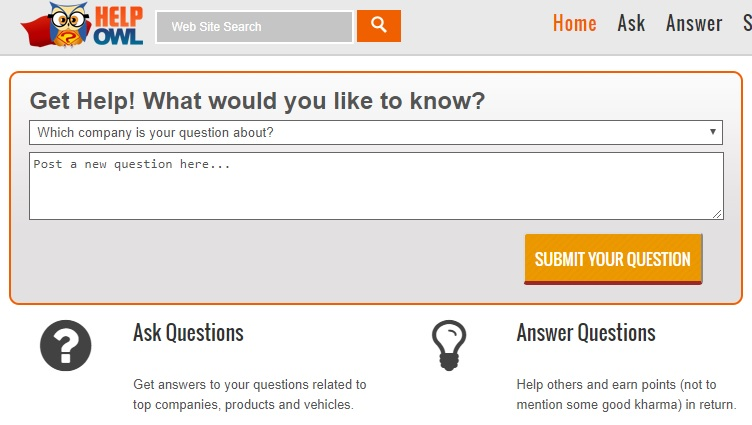 This is very cool site for getting answers online. Simply HelpOwl connect clients with expert