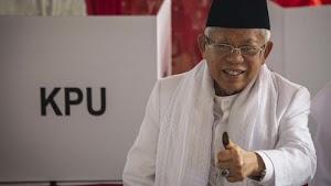 Maruf Amin: Mari Bersyukur, Pilpres Berlangsung dengan Jujur dan Adil