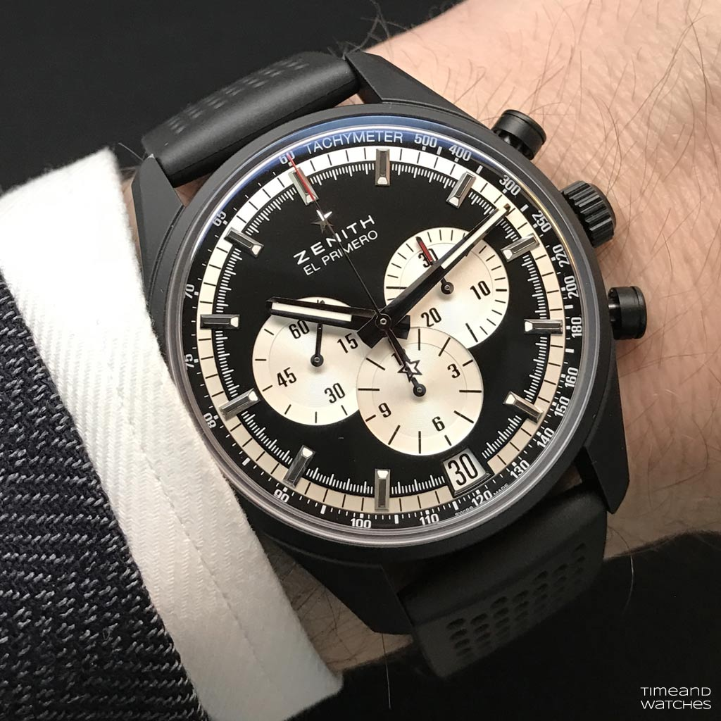 Zenith El Primero 36 000 Vph Black And White Time And