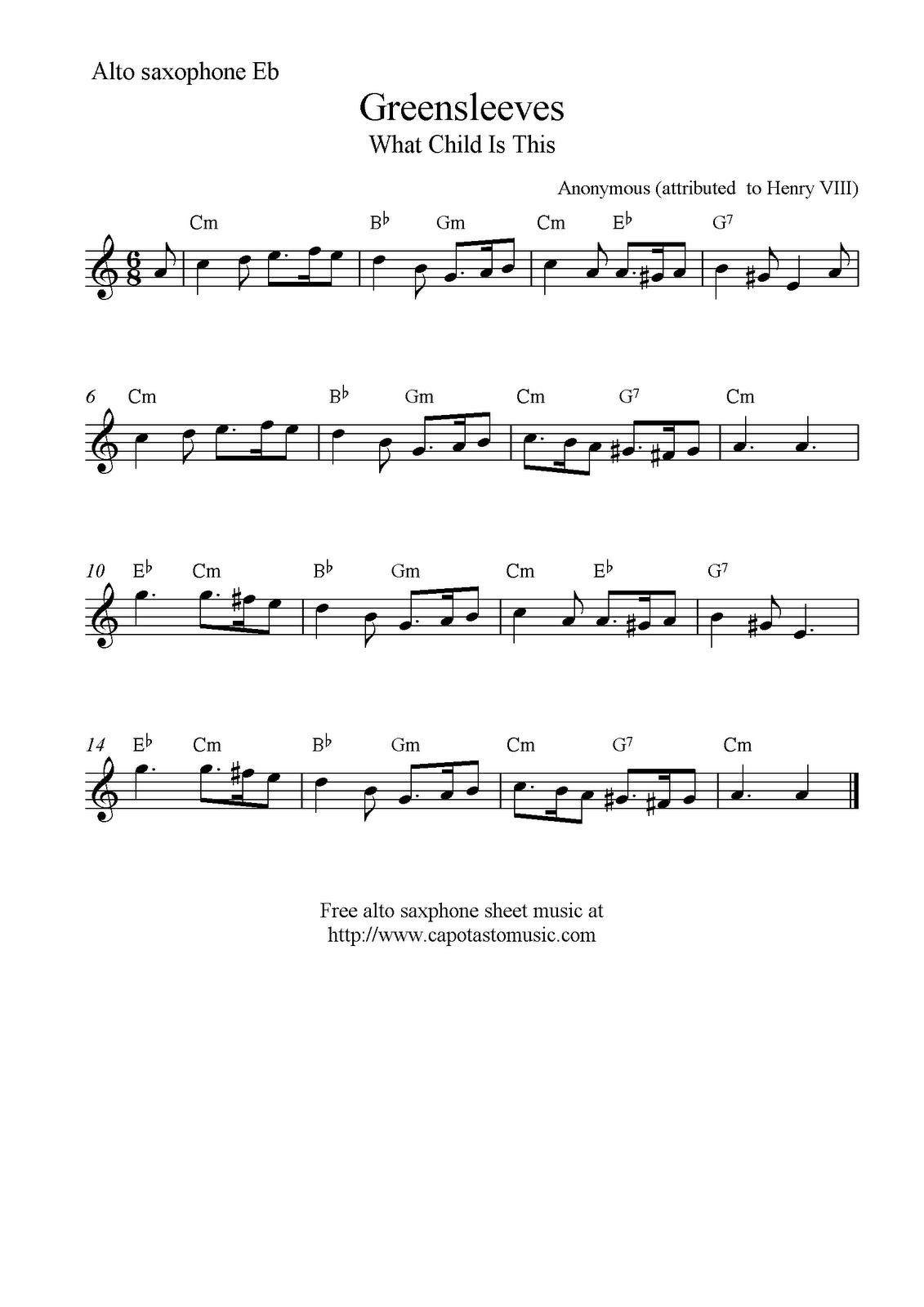 Simplicity image with regard to free printable alto saxophone sheet music