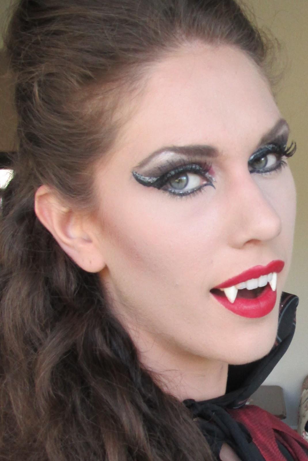 Female Vampire Halloween Makeup