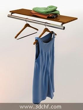 cloth hanger 3d model free