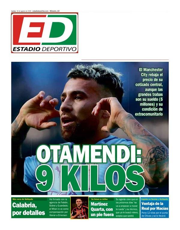 """Betis, Estadio Deportivo: """"Otamendi: 9 kilos"""""""
