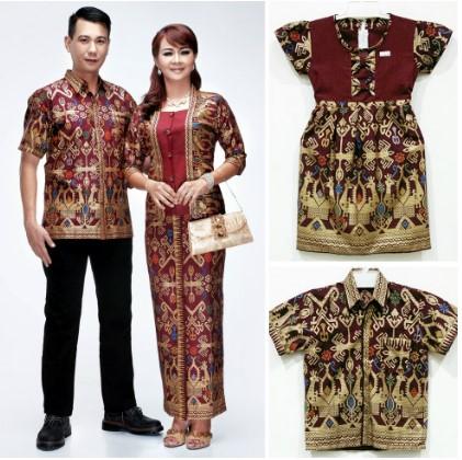 12 Koleksi Baju Batik Seragam Keluarga Model Terbaru 2020