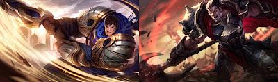 Garen ve Darius düşman şampiyonlar