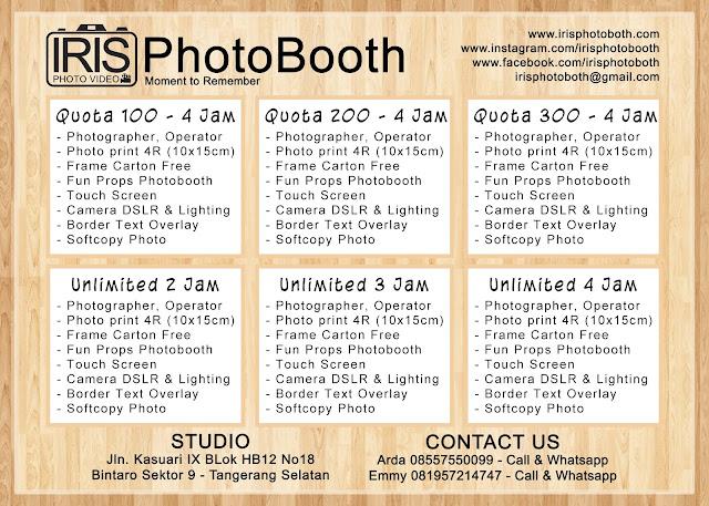 Paket Harga Photobooth 2018