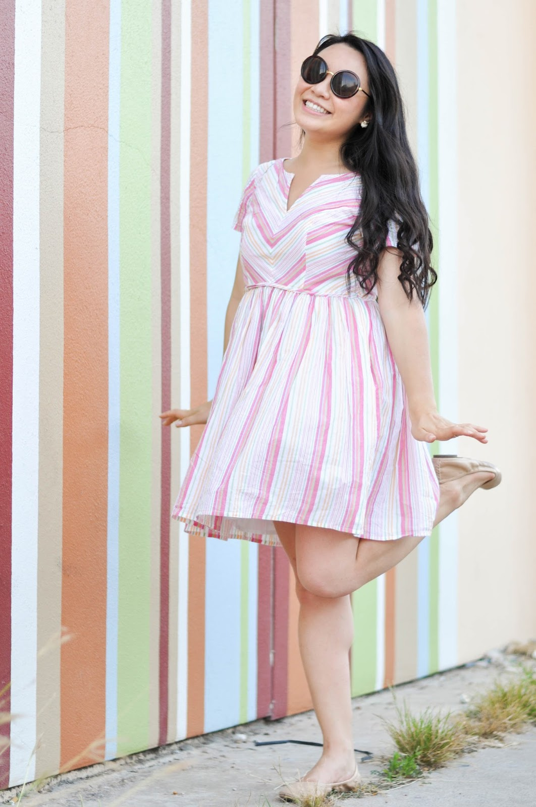 Candy Stripe Dress | The Bella Insider