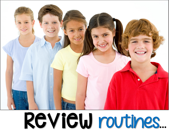take this week to review all classroom rules and routines so that students can be successful after a break from school.