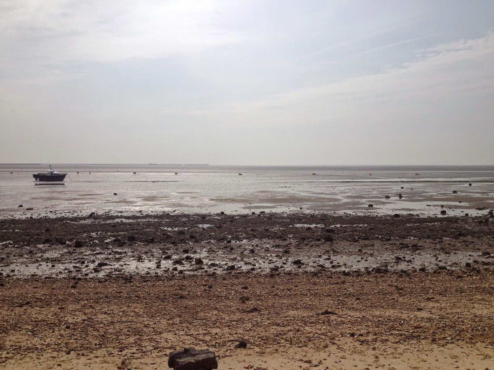 A landscape shot of the coast in Shoeburyness