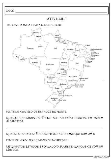 Atividade Estados e Capitais do Brasil