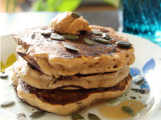 pancakes healthy moelleux fluffy sans oeuf