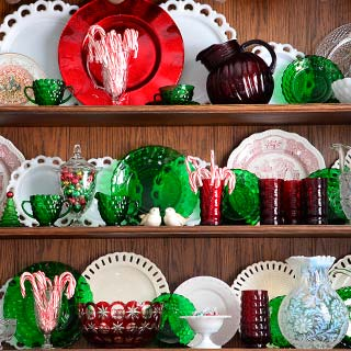 christmas china hutch