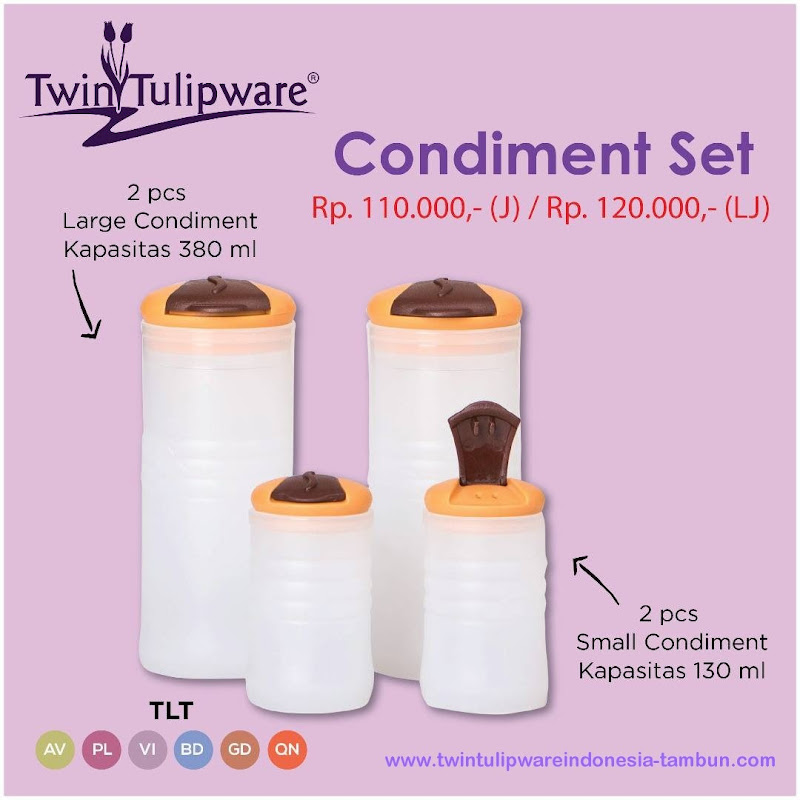 Condiment Set - Katalog 2017 Twin Tulipware