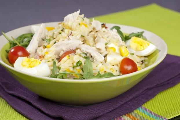Salade de riz et poulet par samitatv