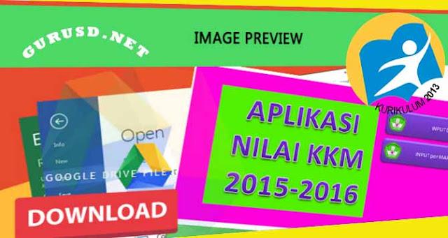 Aplikasi KKM Kurikulum 2013 Kelas 3 dan 6 Sekolah Dasar