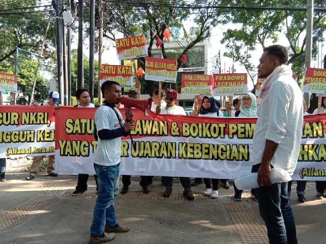 Sekelompok Orang Tuntut Prabowo Minta Maaf ke Jurnalis