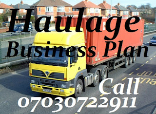 Haulage Business Plan - Call 07030722911