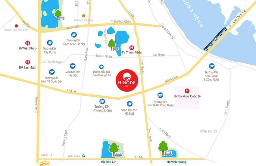 Chung cư  Hinode City Minh Khai Mai Động