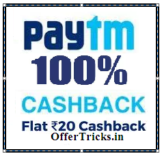 Paytm MONTHLY20 Promo code offer 100% cashback Recharge offer
