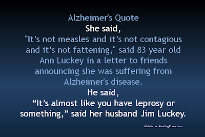 Husband and wife describe life with Alzheimer's includes quotes