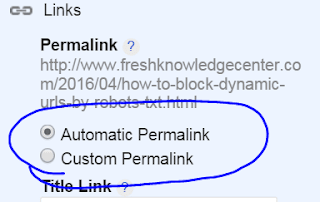 Editable post Permalink in Blogger before published