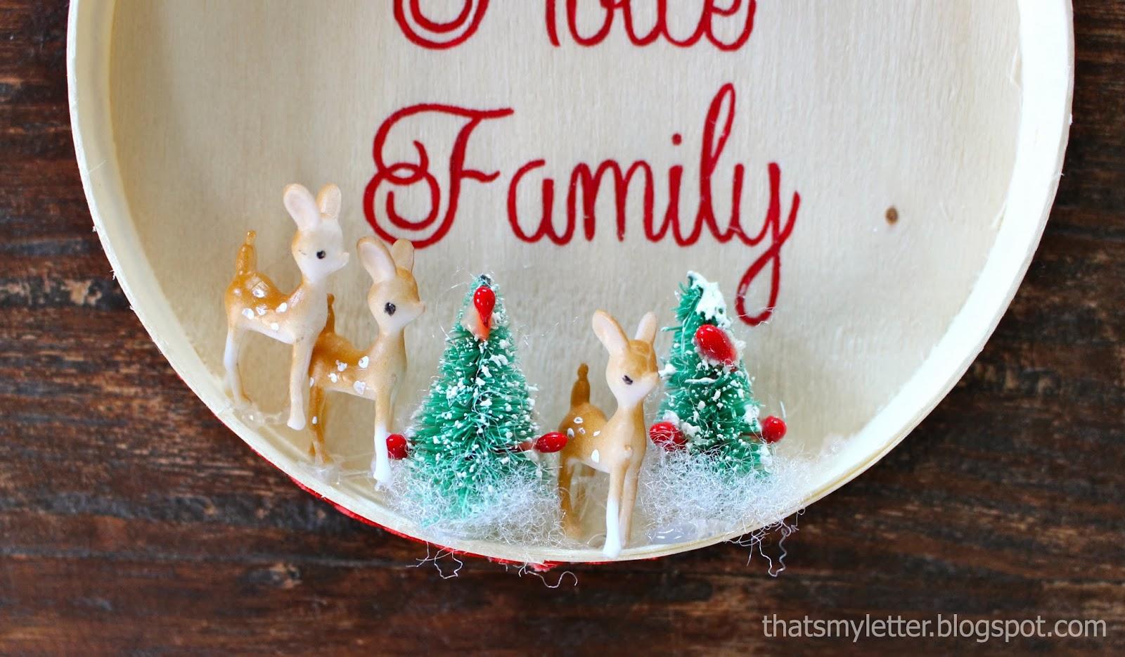 Handmade Family Name Ornament