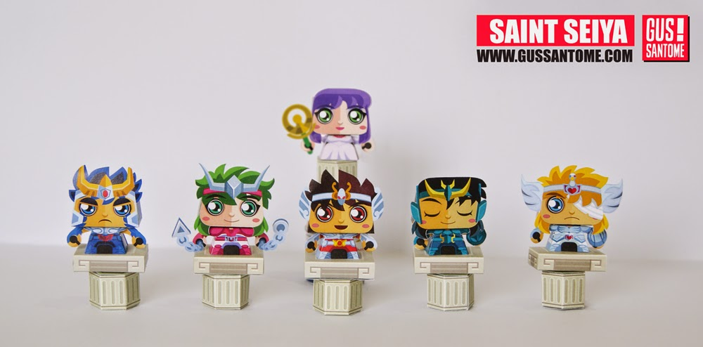 Saint Seiya Bronze Saints Paper Toy