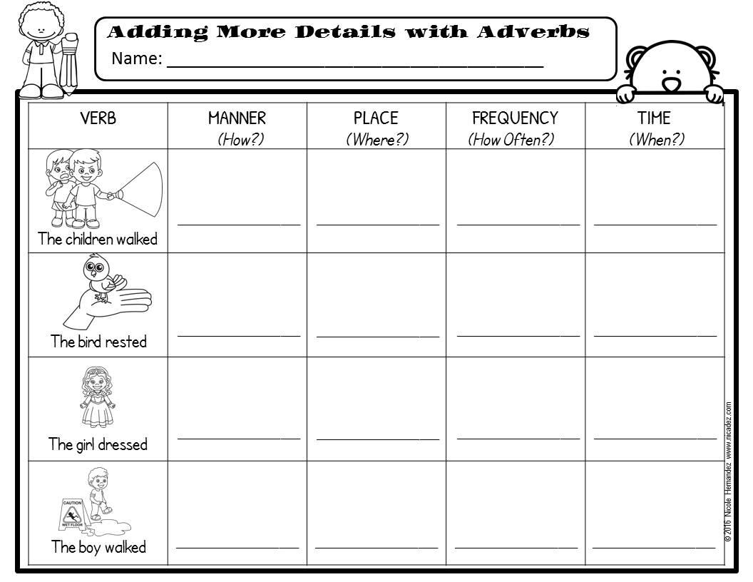 A Teacher's Idea: All About Adverbs [ 816 x 1056 Pixel ]