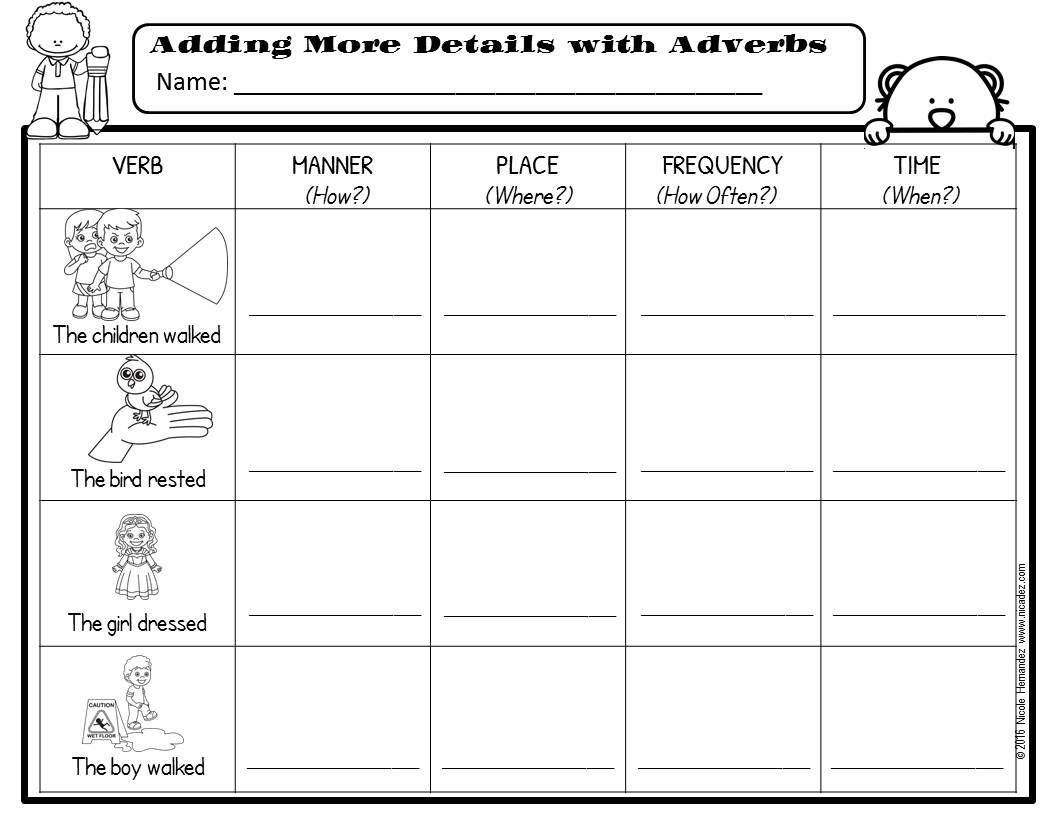 medium resolution of A Teacher's Idea: All About Adverbs