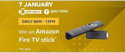 amazon quiz 7 january