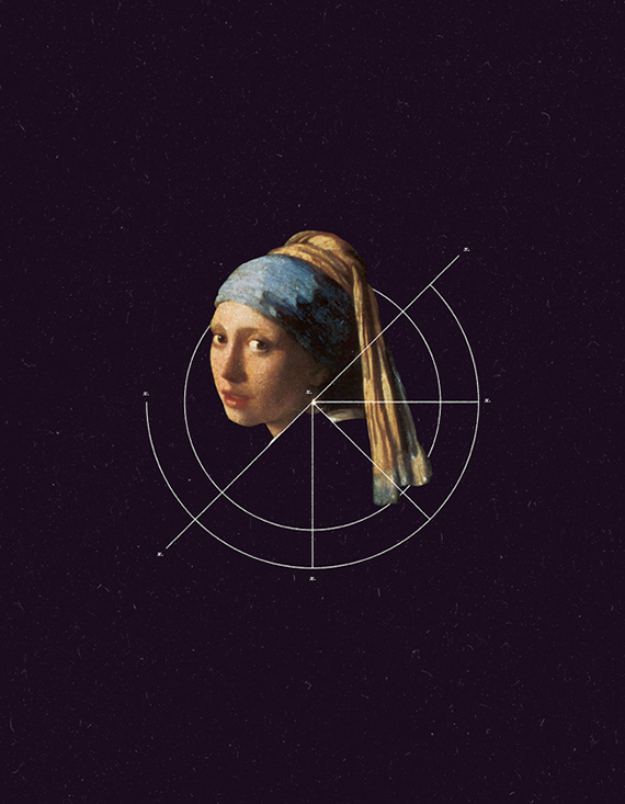 This is NOT Girl with a pearl earring from the series of Not Art by Warsheh.