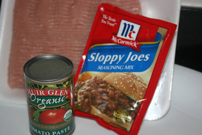 Sloppy joe ingredients for recipe made in the crockpot slow cooker