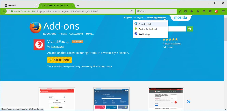 Colora le schede di Firefox con VivaldiFox