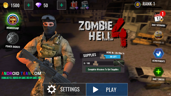 Zombie Shooter Hell 4 Survival 1.50 Apk + Mod Money