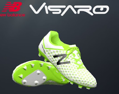 PES 2016 White / Toxic New Balance Visaro 2016 Boots by oxarapesedit