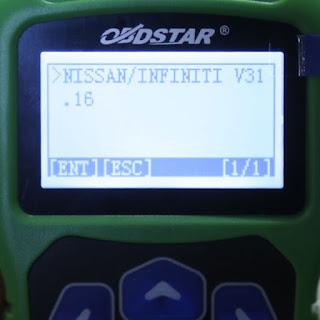 OBDSTAR F102 Menu Display