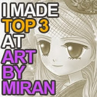 I made top 3 Artbymiran challenge nº34
