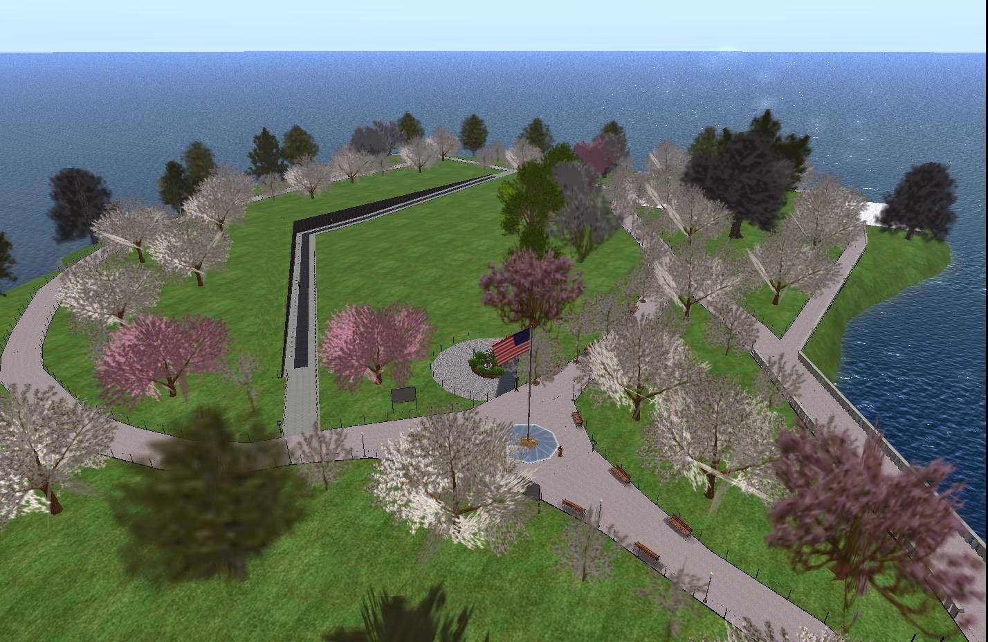Second Life Newser Second Life Vietnam Memorial Designer Says The Wall May Return