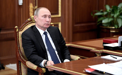 Vladimir Putin at the meeting with Marina Kovtun.