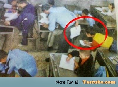 cheating on exam like a boss