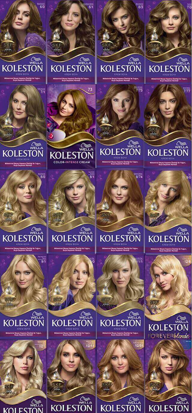 Koleston saç sarı tonları