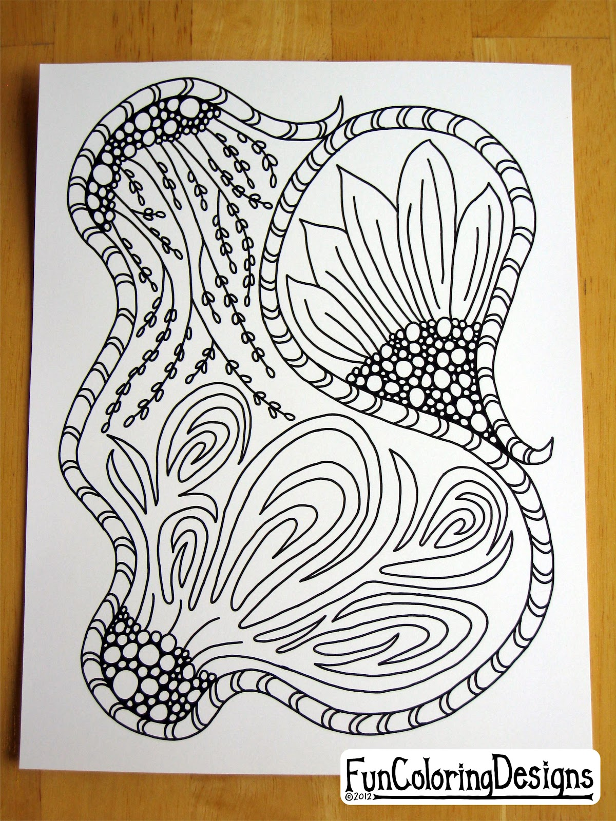 My First Zentangle | Fun Coloring Designs