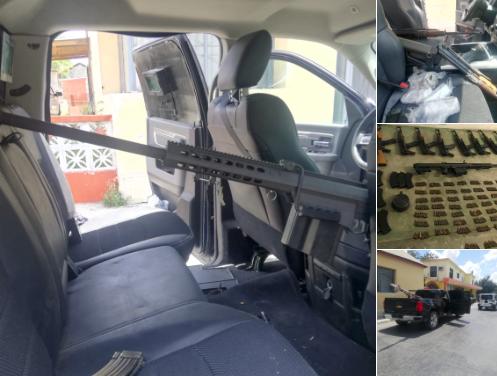 """Todos se escaparon? Tumban 4 camionetas y 12 armas largas a """"El Primito"""" cel CDG y avanzada del CJNG en Tamaulipas"""