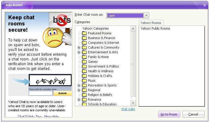 yahoo chat adult