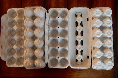 types of egg cartons to make wreath